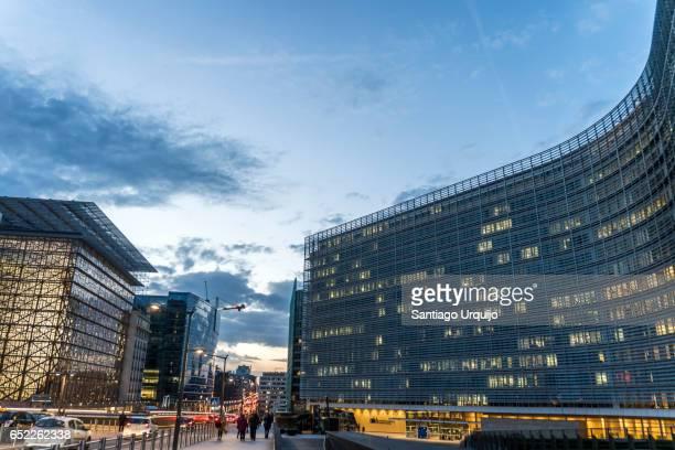 European Commission and Council buildings along rue de la loi