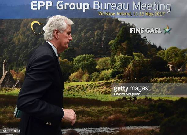 European Commission Brexit chief negotiator Michel Barnier attends the EPP Group Bureau meeting at Druids Glen on May 12 2017 in Wicklow Ireland...