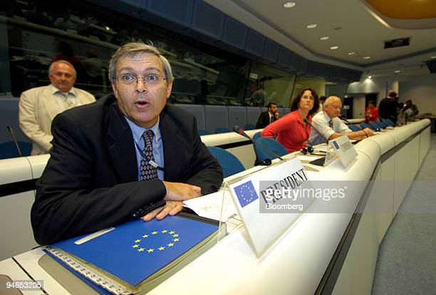 European Commission Chairman of The Standing Committee on the Food Chain and Animal Health , Alberto Laddomada, presides over an emergency session...