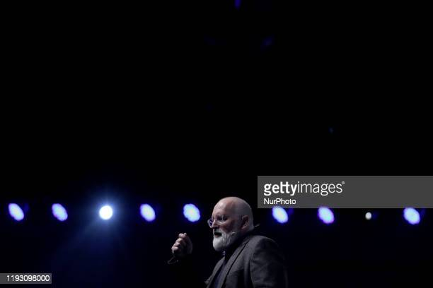 European commission executive vicepresident Frans Timmermans delivers a speech during the opening ceremony of the Lisbon European Green Capital 2020...