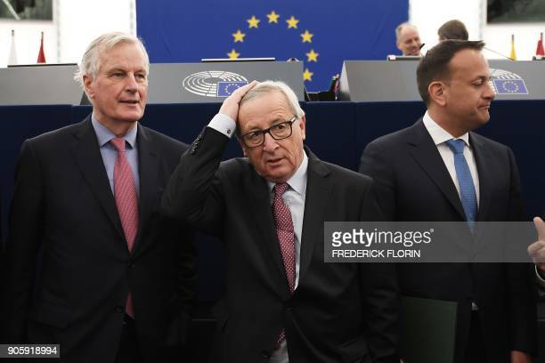 European commission member in charge of Brexit negotiations with Britain French Michel Barnier European Commission President JeanClaude Juncker and...