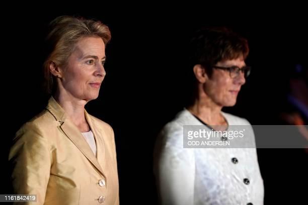 European Commission President, former German defence minister Ursula von der Leyen and her successor Defence Minister and leader of the CDU party,...