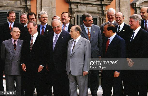 European Commission President Jacques Delors Canadian Prime Minister Jean Chretien German Chancellor Helmut Kohl French President Francois Mitterrand...
