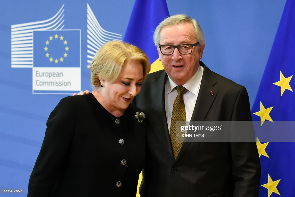 BELGIUM-EU-ROMANIA-DIPLOMACY : ニュース写真