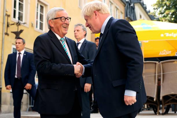 LUX: Boris Johnson Meets With EU Commission President Juncker