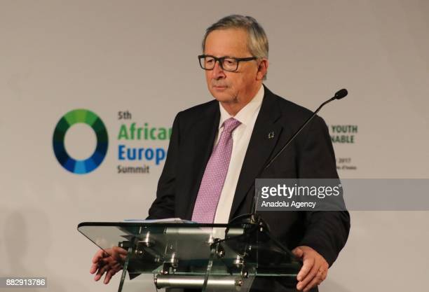 European Commission President JeanClaude Juncker President of Guinea Alpha Conde President of the European Council Donald Tusk and Chairperson of the...