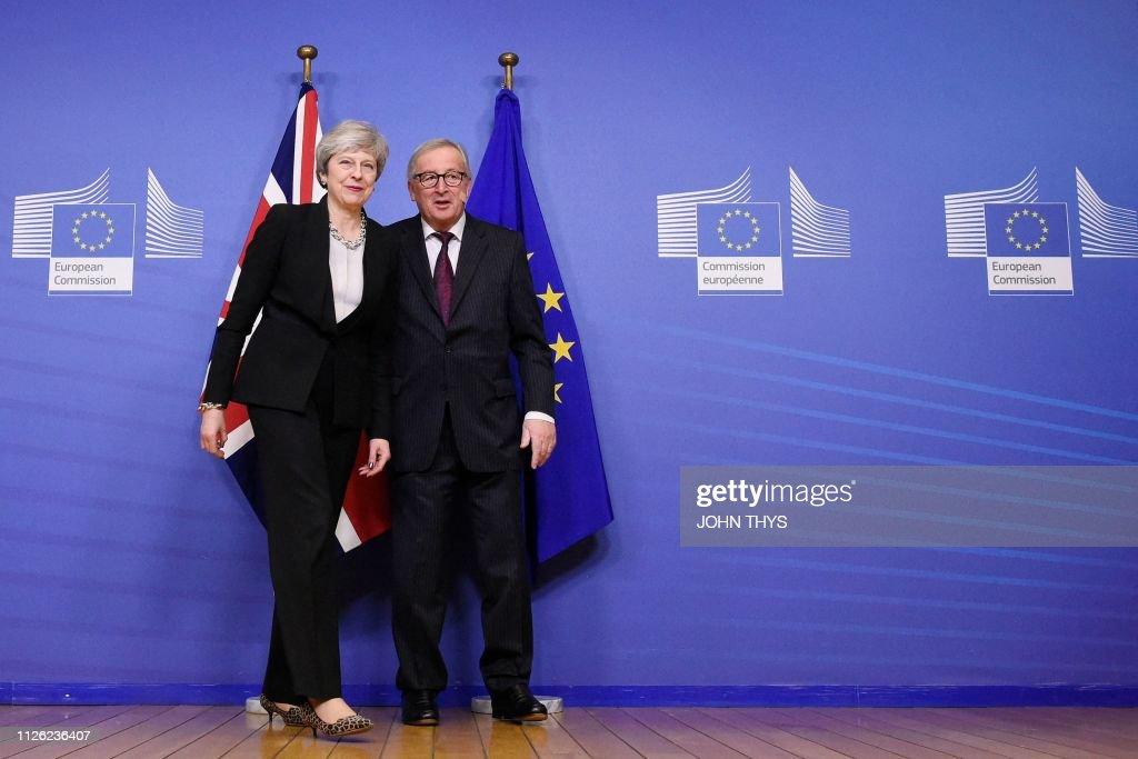 BEL: Theresa May meets Jean-Claude Juncker on Brexit