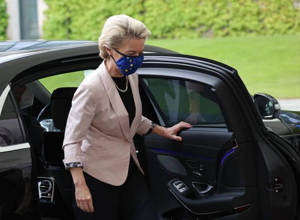 DEU: Ursula von der Leyen Meets With Angela Merkel In Berlin