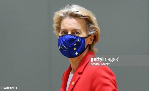 European Commission President Ursula von der Leyen attends the European Union Leaders' Summit in Brussels, Belgium on October 01, 2020.
