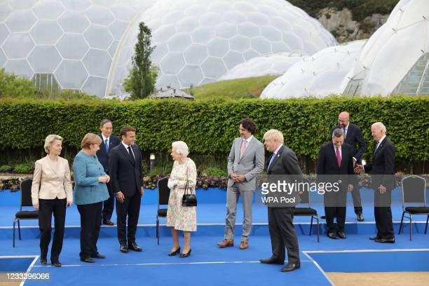 European Commission Ursula von der Leyen, German Chancellor Angela Merkel, Italian Prime Minister Mario Draghi , French President Emmanuel Macron,...