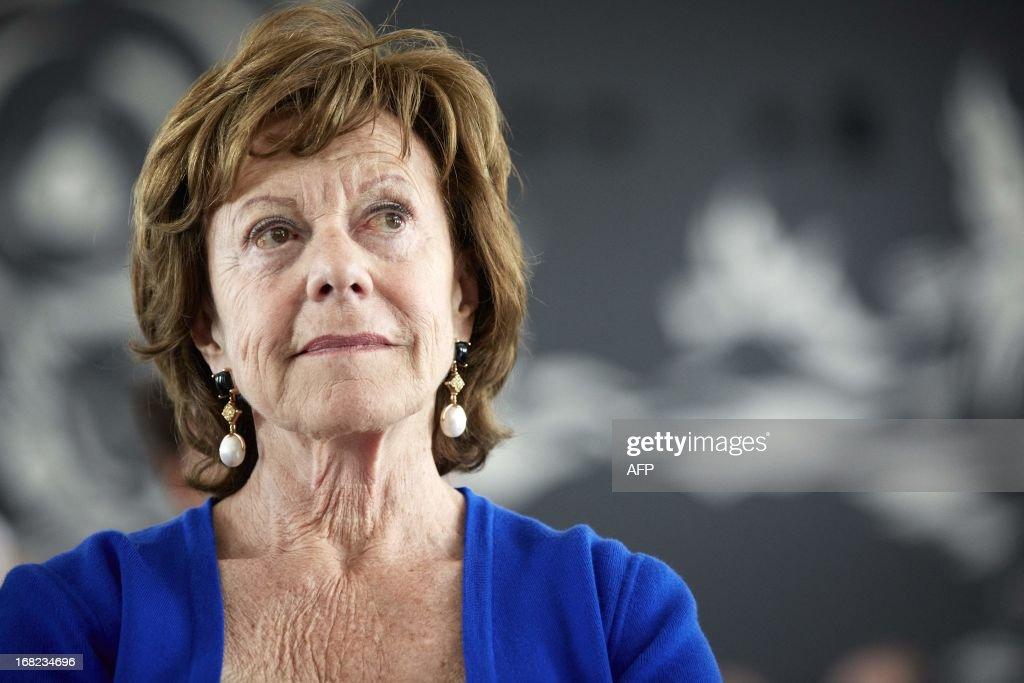 NETHERLANDS-POLITICS-EU-KROES : News Photo