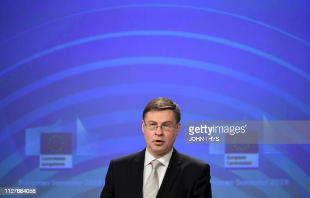 European Commission vice-president in charge the Euro, Social Dialogue, Financial Stability, Financial Services and Capital Markets Union Valdis...