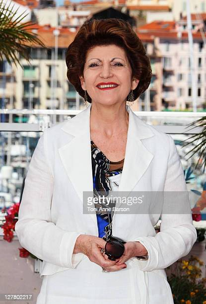 European Commissioner for Culture Androulla Vassiliou attends the European Producers Photocall during the 64th Annual Cannes Film Festival at Palais...