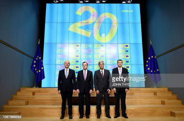 European Commissioner for Economic and Financial Affairs Taxation and Customs Pierre Moscovici President of the ECB Mario Draghi Portuguese Finance...