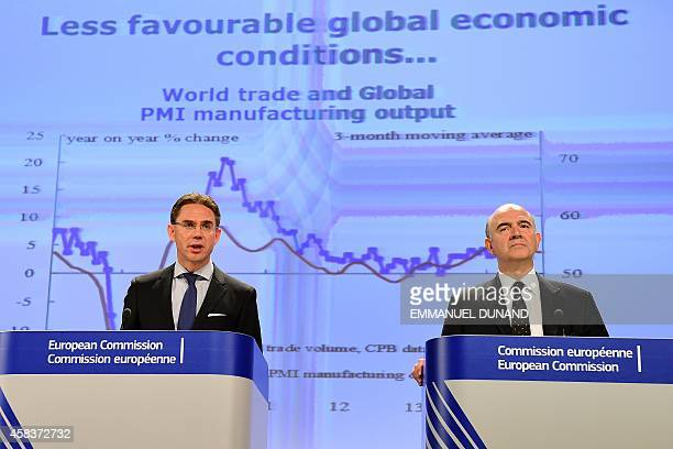 European Commissioner for Economic and Financial Affairs Taxation and Customs Pierre Moscovici and European Commission VicePresident and Commissioner...