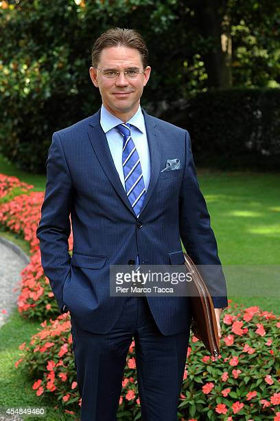 European Commissioner for Economic and Monetary Affairs and the Euro Jyrki Katainen poses for a photo at the Ambrosetti International Economy Forum...
