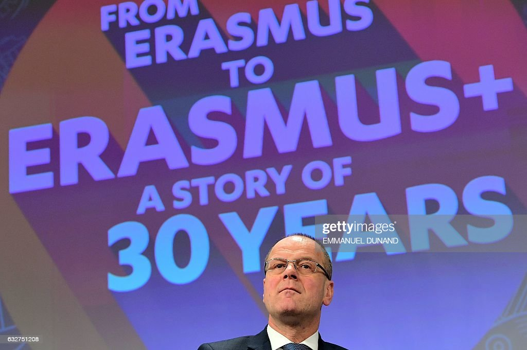 BELGIUM-EU-EDUCATION-CULTURE-ERASMUS : News Photo
