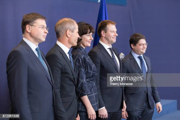 European Commissioner for Financial Stability Financial Services and Capital Markets Union Valdis Dombrovskis Estonain Minister of Finance Toomas...