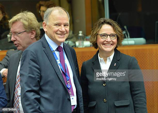 European Commissioner for Health and Food Safety Vytenis Andriukaitis attends the Employment Social Policy Health and Consumer Affairs Council...
