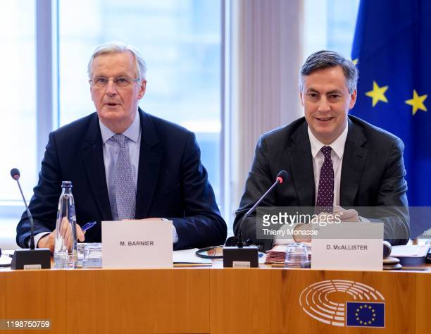 European Commission's Head of Task Force for Relations with the United Kingdom Michel Barnier and the President of the UK Coordination Group of the...