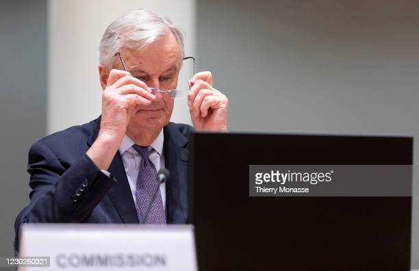 European Commissions UK Task Force Chief Negotiator, Michel Barnier attends a Committee of Permanent Representatives meeting on the current state of...