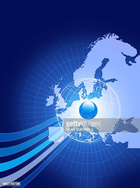 European communications graphic abstract