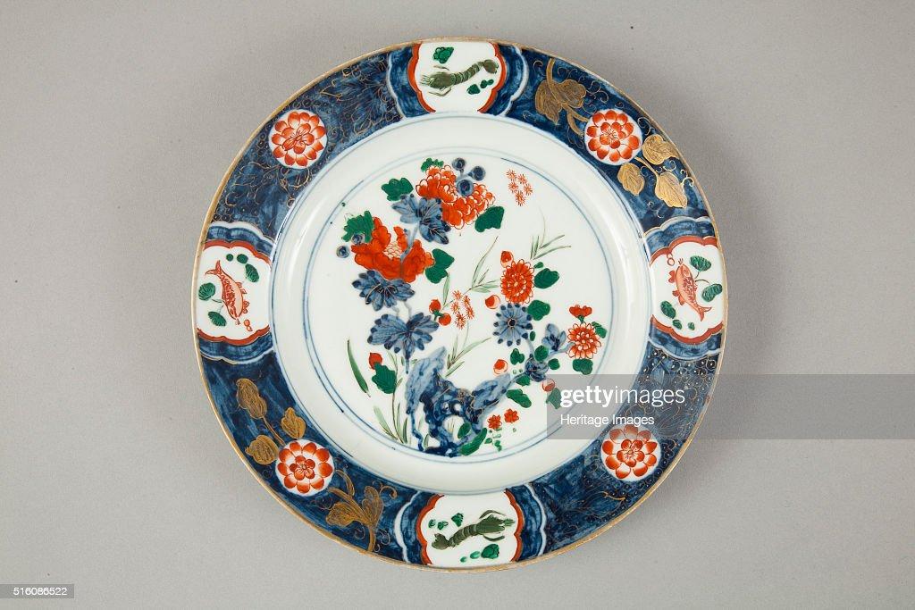 European copy of Chinese Imari plate, 20th century : ニュース写真