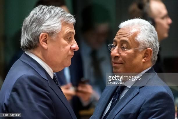 European Council on Brexit Top over de Brexit Sommet UE sur le Brexit * European Parliament President Antonio Tajani / Portugal Prime Minister...