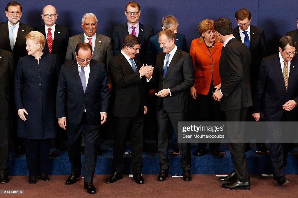 European And Turkish Leaders Hold Summit On Migration : News Photo