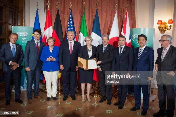 European Council President Donald Tusk Canadian Prime Minister Justin Trudeau German Chancellor Angela Merkel US President Donald Trump British Prime...