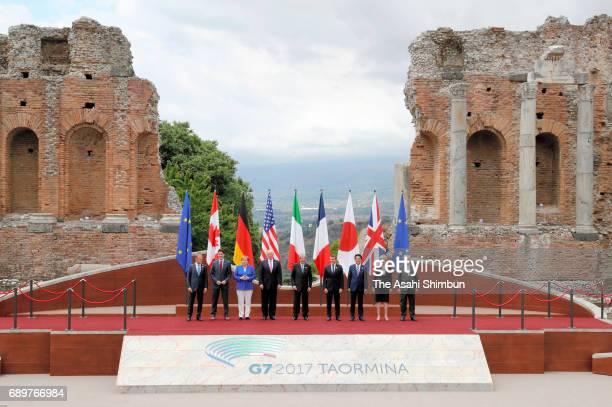 European Council President Donald Tusk Canadian Prime Minister Justin Trudeau German Chancellor Angela Merkel US President Donald Trump Italian Prime...