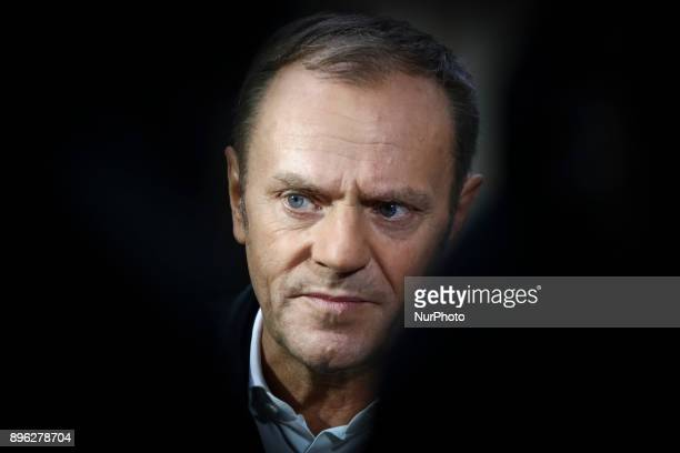 European Council President Donald Tusk during his unofficial visit in Krakow Poland on 20 December 2017