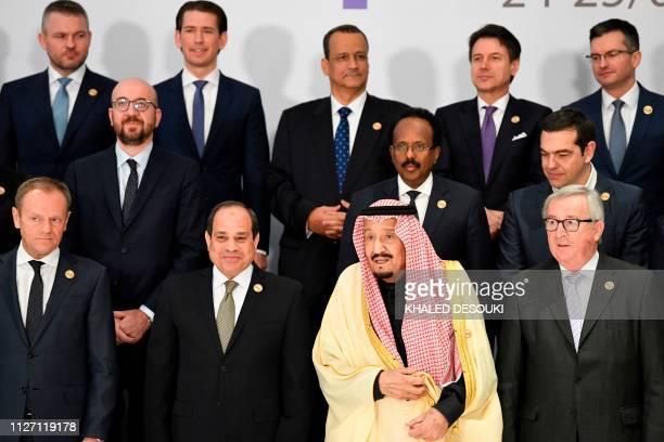 European Council President Donald Tusk Egyptian President Abdel Fattah alSisi King Salman of Saudi Arabia and President of the European Commission...