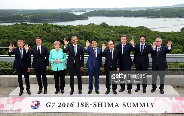 European Council President Donald Tusk Italian Prime Minister Matteo Renzi German Chancellor Angela Merkel US President Barack Obama Japanese Prime...