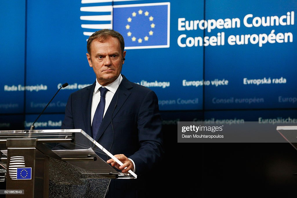 European Leaders Attend The European Council Meeting In Brussels : News Photo