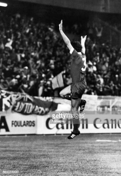 European Cup Final held at the Parc Des Princes in Paris FranceLiverpool 1 v Real Madrid 0 Liverpool's Alan Kennedy celebrtaes after scoring the...