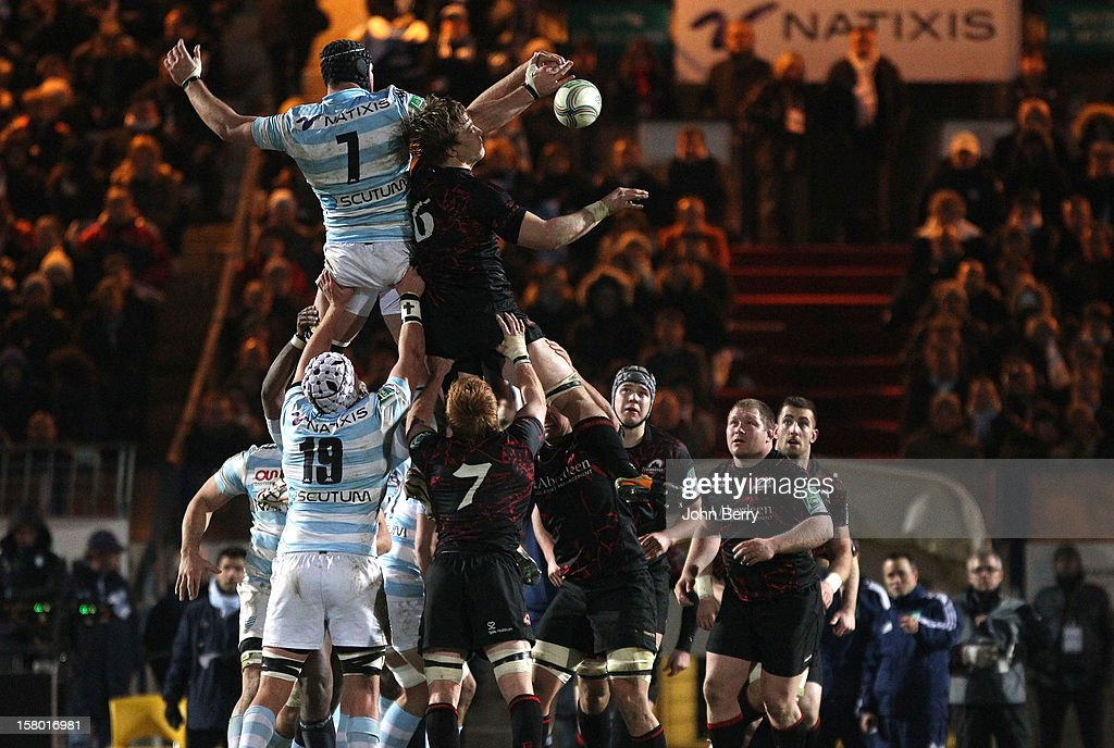 European Cup match between Racing Metro 92 and Edinburgh Rugby at the Stade Yves du Manoir on December 8, 2012 in Colombes nearby Paris, France.