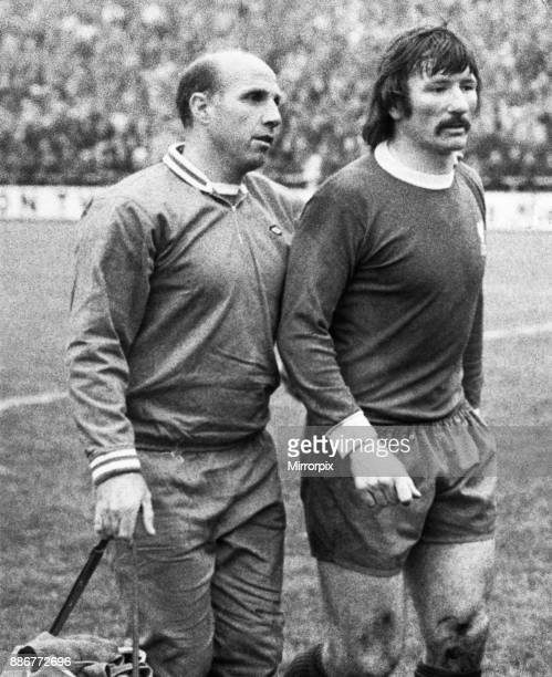 European Cup Winners Cup Second Round Second Leg match in Budapest. Ferencvaros 0 v Liverpool 0. . Coach Ronnie Moran walks off the pitch withTommy...