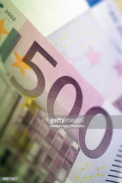 European currency: five hundred euro bank note
