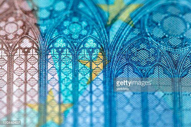 european currency - twenty euro banknote stock photos and pictures