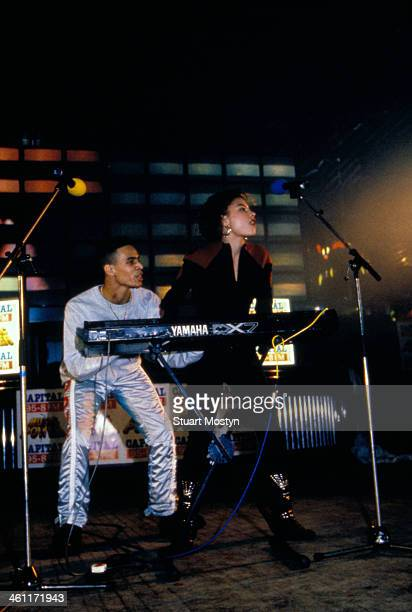 European dance band 2 Unlimited on stage 1991