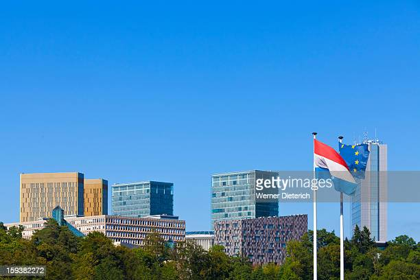 european district at kirchberg plateau, luxembourg - ルクセンブルク市 ストックフォトと画像