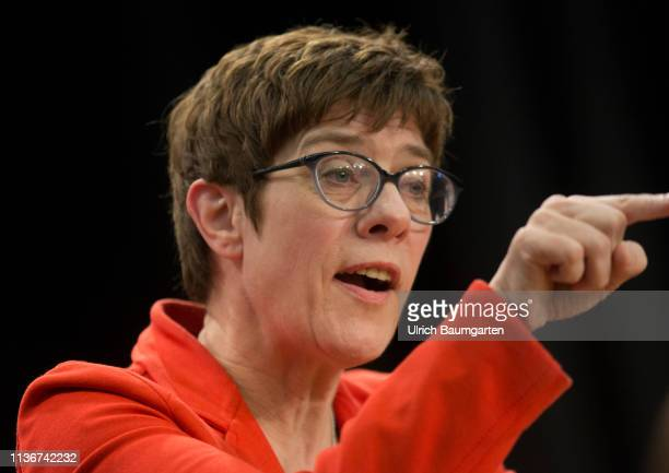 European election 2019 Event of the CDU in the Sauerland town of Eslohe Annegret KrampKarrenbauer chairwoman of the CDU during the event