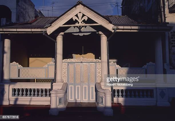 European era house sits on a side street January 1, 1998 in Colombo, Sri Lanka. European influence on the island began in 1505 when the Portuguese...