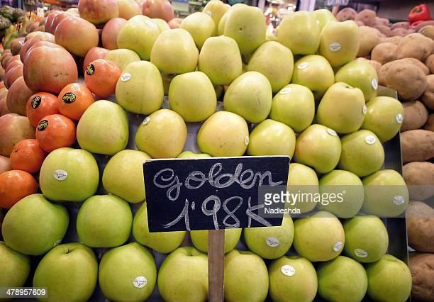 european farmer markets - fruta stock photos and pictures