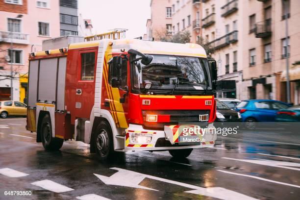 European fire truck