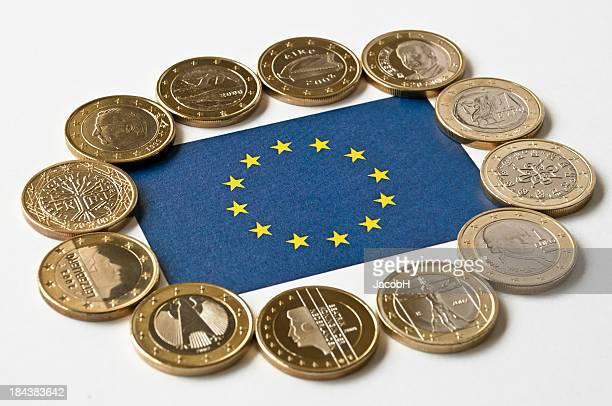 Europäische Flagge mit Euro