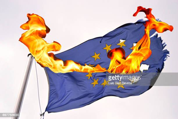 European Flag Burning
