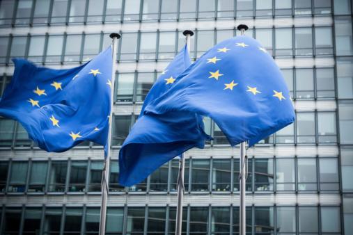 European flags. 175409767