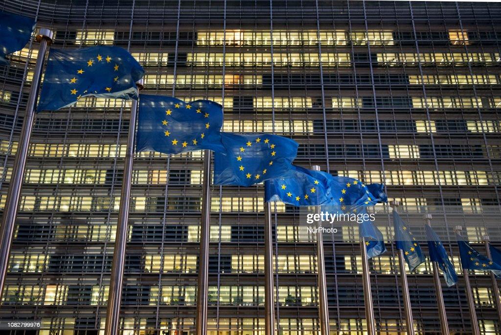 European Commission Headquarter In Brussels : Foto di attualità